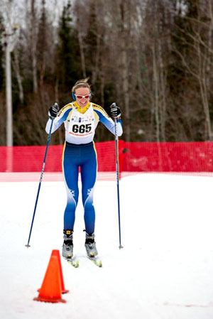 Elaine Nelson Cross Country Skiing